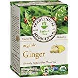 raditional Medicinals Organic Ginger Herbal Tea, 16 Count (Pack of 1)