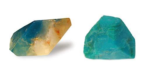 SoapRocks Aquamarine and Chrysocolla Soap Rock Bundle Set of 2-6 oz