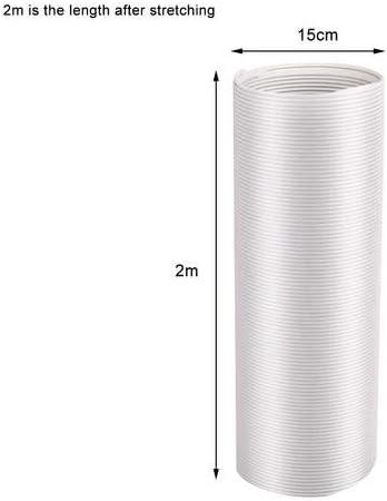 shewt - Tubo de Salida de Aire (PVC, Flexible, para instalaciones de Aire Acondicionado, secadoras, Campana extractora, Longitud extendida 2/3 m, diámetro 13/15 cm): Amazon.es: Hogar