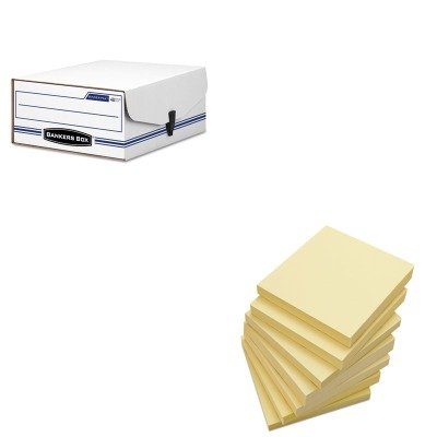 KITFEL48110UNV35668 - Value Kit - Bankers Box Liberty Binder-Pak Storage Box (FEL48110) and Universal Standard Self-Stick Notes (UNV35668) ()