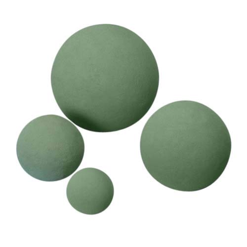 Oasis Floral Foam Sphere Perfect for topiaries, centerpieces and Other Creative Applications, Such as a Sphere Resting ATOP a vase. (4.5''(20/CASE))