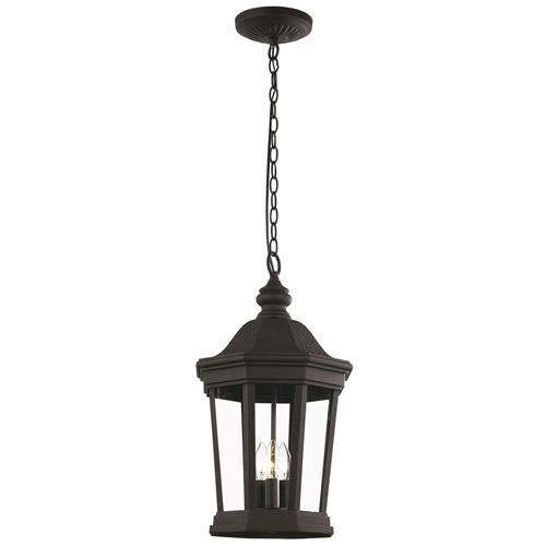 Trans Globe Chateau Villa Outdoor Pendant Light 40406BK Black