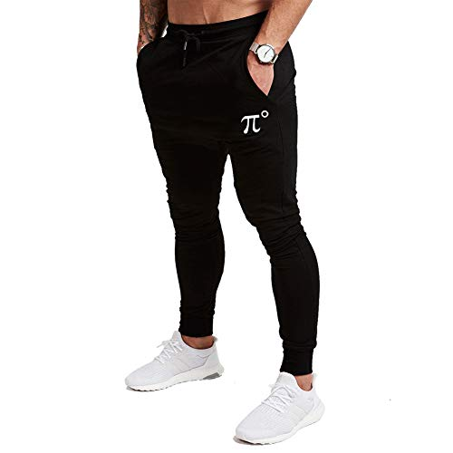 GANSANRO Men's Slim Jogger Pants, Tapered Sweatpants for Training, Running, Workout with Zipper Pockets and Elastic Bottom Black (Joggers Pants Size Small)