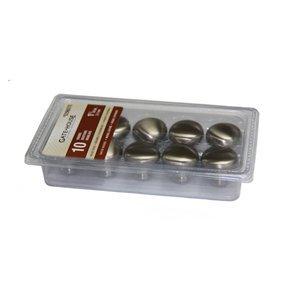 "Gatehouse 10-Pack 1-1/4"" Mushroom Cabinet Knobs, Satin Nickel 0296070"