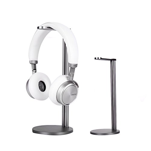 EletecPro Headphone Stand Holder,Universal Aluminum Alloy Gaming Headset earphone Holder Table Desk Display Rack Hanger Orgnizer Support For All Headphone Sizes (Grey)