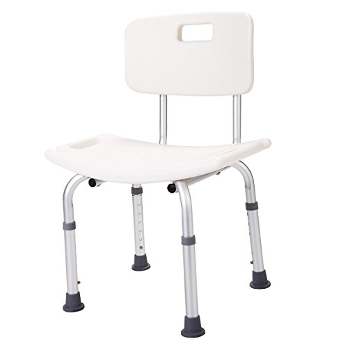 JAXPETY Medical Tool-Free Spa Bathtub Adjustable Shower Chair Seat Bench with Removable Back (Adjustable Shower Chair) by JAXPETY