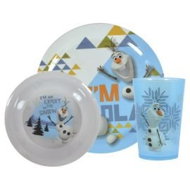 Disney Frozen Olaf Melamine Dinner Set 3-Piece .  sc 1 st  Amazon UK & Disney Frozen Olaf Melamine Dinner Set 3-Piece .: Amazon.co.uk ...