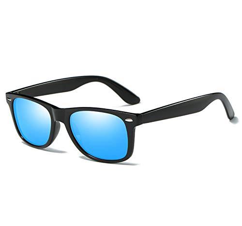 Sunglasses Men Polarized Glasses Men Mirrors Driving Points Coating Sun Glasses Frame Eyewear,C07 BrightBlack Blue,Packing (Sniper Mirror Goggles)
