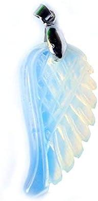 Aituo 1pc Natural Cristal Reiki ala Pila de Piedras Preciosas Healing Chakra Colgante pendulo para el Collar DIY Joyería de fabricación