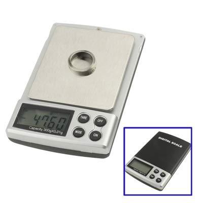 Xiaochou@sl Bilancia tascabile digitale (300 g / 0,01 g), dimensioni: 113 x 86 x 19,5 mm Portatile