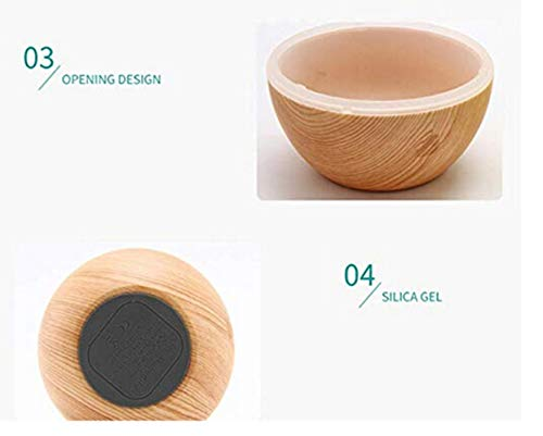 Lily-Li 130ml LED Ultrasonic Aroma Humidifier Air Aromatherapy Essential Oil Diffuser USB for Home Yoga Office Spa Bedroom (A) by Lily-Li (Image #3)