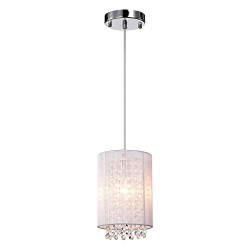 LaLuLa Crystal Pendant Lighting 1-Light Mini Raindrop Lights Kitchen Island Chandelier