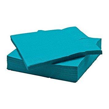 Large Product Image of Ikea Fantastisk - Paper Napkin, Turquoise / 50 Pack / 50 Pack - 40X40 Cm