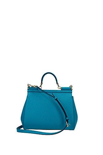Borse a Mano Dolce&Gabbana Donna Pelle Azzurro BB6002A100181600 Celeste 12x21x26 cm