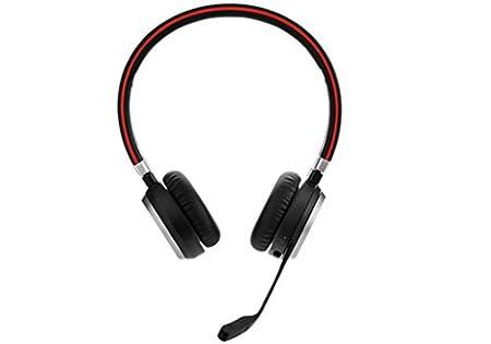 Jabra Evolve 65 UC Stereo - Auriculares con micrófono (biaural, diadema, Cisco Avaya, inalámbrico y alámbrico, 30 m) color negro: Jabra: Amazon.es: ...
