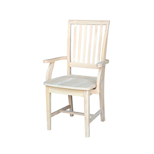International Concepts 265A Mission Side Chair With Arms, Unfinished