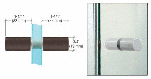 (CRL Cylinder Style Oil Rub Bronze Finish Back-to-Back Shower Door Knob )