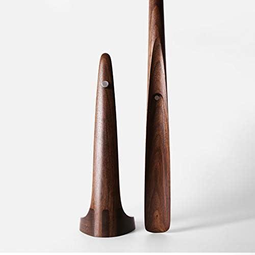 軽量 長い取っ手の靴ホーンブラックウォールナット旅行靴ヘルパー男性、女性と子供 耐用 (Color : Brown, Size : 4.5x4.5x60cm)