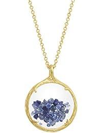 Catherine Weitzman Shaker Birthstone Pendant Necklace, February