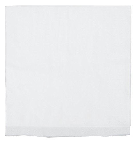 Perfect Stix White Dinner Napkin QT-300ct 2-Ply White Dinner Napkins with 1/4 Fold, 16