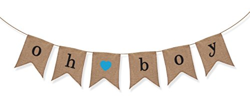 Sterling James Oh Boy Burlap Banner