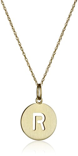 14k Gold-Filled Round Pierced Initial