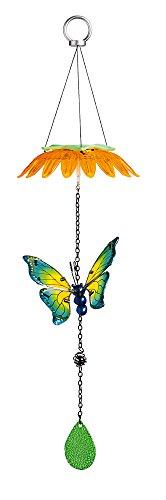 Evergreen Blue Haze Butterfly Flower Top Solar Mobile