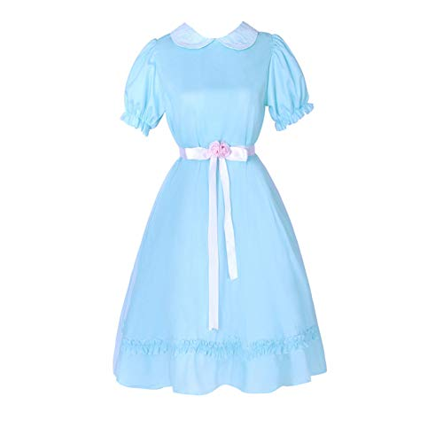 Adult Twin Daughter Cosplay Costume Blue Dress Halloween Custom Made (M, Item A)