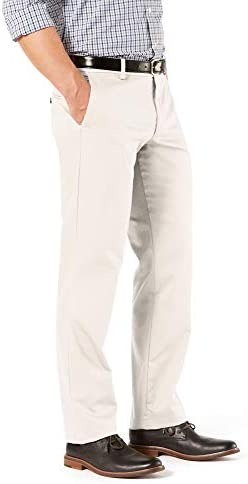 315tApBVMjL. AC Dockers Men's Straight Fit Signature Lux Cotton Stretch Khaki Pant    A best-in-class khaki with dress pant details. Cut for a straight fit from hip to ankle, these feature stretch for performance and all-day comfort. No wrinkle technology gives you a freshly pressed look around the clock and an individual fit waistband offers up to 1 inch.