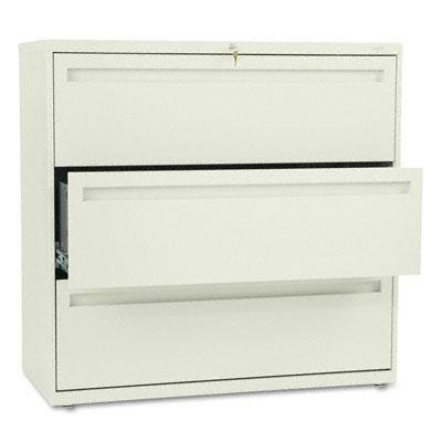 Hon - 700 Series Three-Drawer Lateral File 42W X 19-1/4D Putty