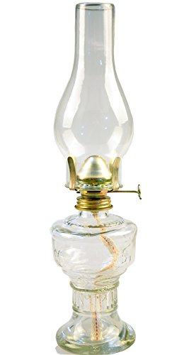Vintage Glass Oil Lamp Lantern