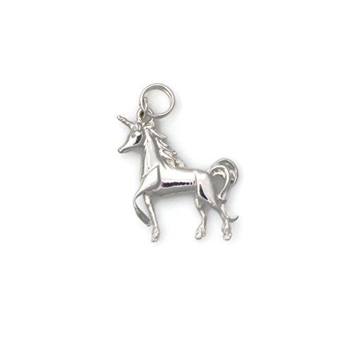 14Kt Diamond Unicorn Charm, 14Kt White Gold Unicorn Charm, 14K Unicorn Pendant, Donna Pizarro, Animal Whimsey Collection by Donna Pizarro Designs