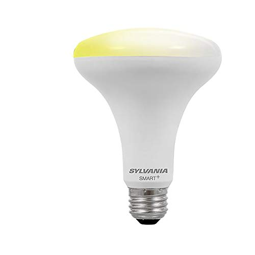SYLVANIA SMART+ Bluetooth Soft White Dimmable BR30 LED Light Bulb, 65-Watt Equivalent, Works with Amazon Alexa, No Hub Required