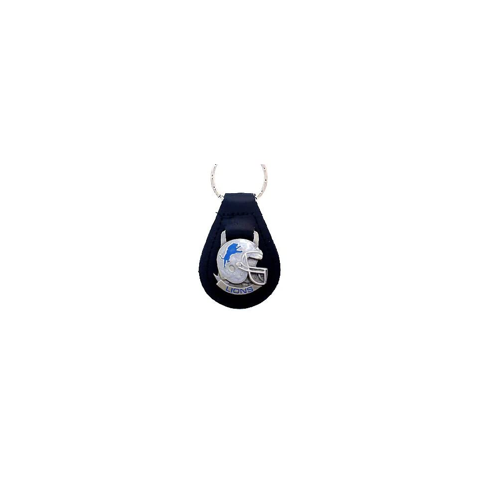 Detroit Lions NFL Small Leather Key Ring