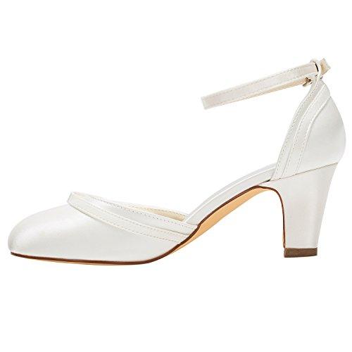 Avorio Bridal Tacco Alla Cinturino Scarpe Sposa Caviglia Da Alto Emily xAdR4Iqwq