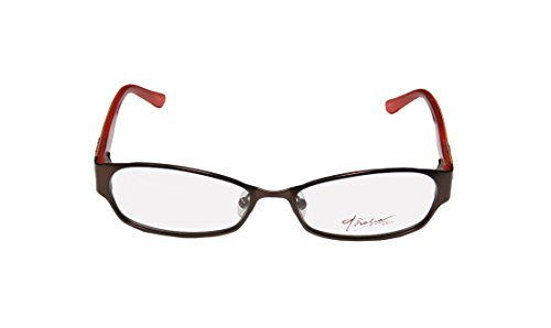 Thalia Tacones WomensLadies Optical Brand Name Designer Full-rim Spring Hinges EyeglassesEyewear (51-15-130 Brown  Peacock)