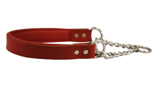 Leather Martingale Dog Collar, Choker, 16