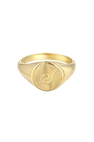 pinky signet ring by Zoe Lev Jewelry