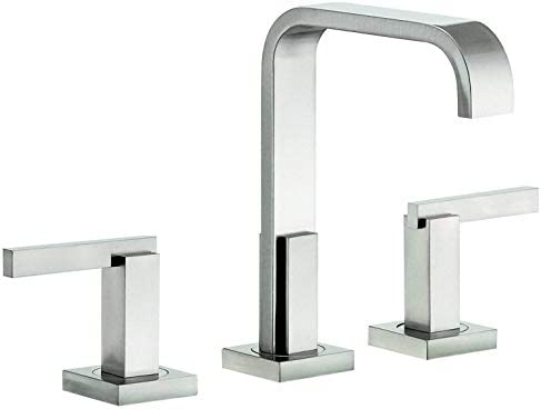 Danze D304644BN Sirius Widespread Bathroom Faucet with Metal Touch-Down Drain, Brushed Nickel