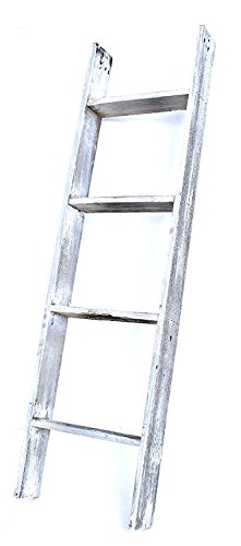 BarnwoodUSA Rustic Farmhouse Blanket Ladder - Our 4 ft Ladder can be Mounted Horizontally or Vertically and is Crafted…