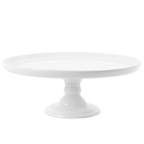 Everyday White by Fitz and Floyd Large Footed Cake Stand 11 diameter x 4-1/8 H by Everyday White