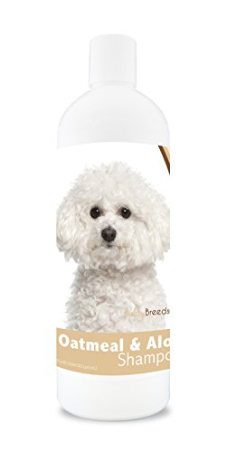 Healthy Breeds Dog Oatmeal Shampoo with Aloe for Bichon Frise - Over 75 Breeds - 16 oz - Mild and Gentle for Itchy, Scaling, Sensitive Skin - Hypoallergenic Formula and pH Balanced