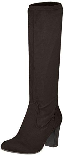 Caprice 25503, Botas Para Mujer Negro (Black Stretch)