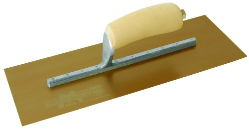 (MARSHALLTOWN The Premier Line 4682DFL 14-Inch by 5-Inch DuraFlex Trowel with Long Mounting Wood Handle)