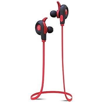 BlueAnt - Pump Lite HD Wireless Sportsbuds, IP54 Sweat-Proof, Siri and Google Integration (Red)