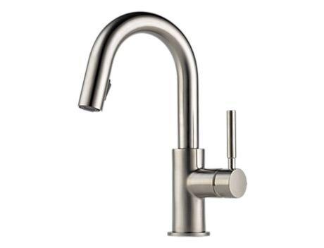Brizo 63920LF-SS Solna Single Handle Pull-Down Bar/Prep Faucet, - Faucet Prep Brizo