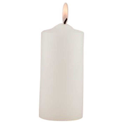 Round Pillar Candles Style 1026, White (Seashell Stopper Bottle White)