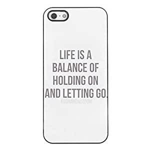 ZL Hold ON and Let GO Design Aluminium Hard Case for iPhone 4/4S