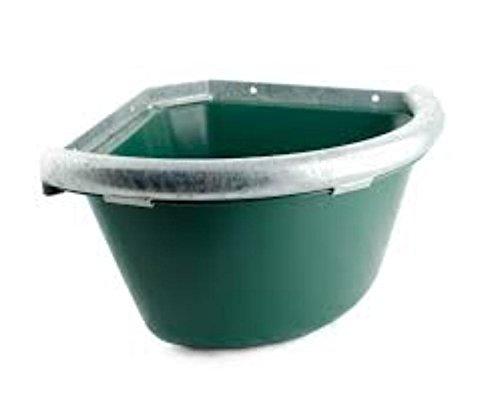 Mangiatoia angolare in plastica con bordo in ferro tappo per pulizia antispreco Umbria Equitazione