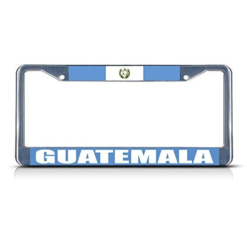 Teisyouhu Guatemala Flag Funny Humor Auto Car Tag Frame License Cover Auto License Plate Frame Cover Car Accessory (Guatemala Cover)